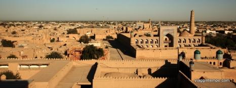Khiva: Panorama al Tramonto