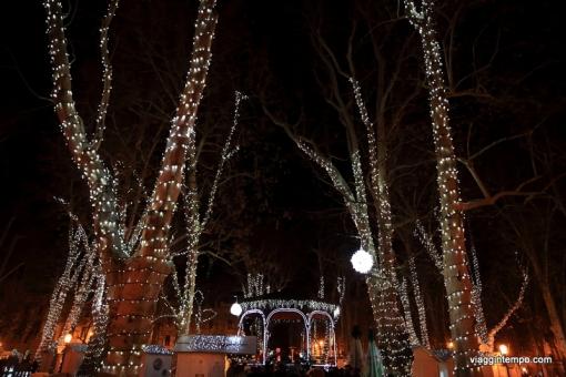 Zagabria, Parco Zrinjevac con le decorazioni natalizie