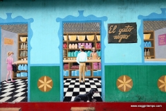Pijao, Graffiti e porte colorate